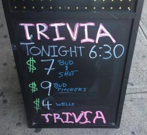 Trivia at Bar None